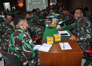 Tim Pengendali Program dan Anggaran (Dalprog) Kodam IV/Diponegoro dipimpin oleh Waasrendam IV/Dip Letkol Arm Teguh Tri Prihanto Usman, S.Sos, MM kunjungi Korem 072/Pamungkas. (Foto Affan)