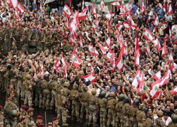 Rakyat Lebanon unjuk rasa besar-besaran menuntut Perdana Menteri mundur. (Sumber Foto: Republika)