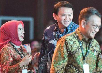 Menteri Esdm, Dirut Pertamina Nicke Widyawati dan Komisaris Utama Pertamina Ahok